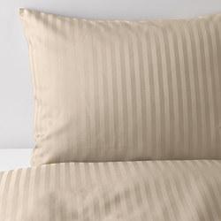 NATTJASMIN - Sarung quilt dan 4 sarung bantal, krem muda