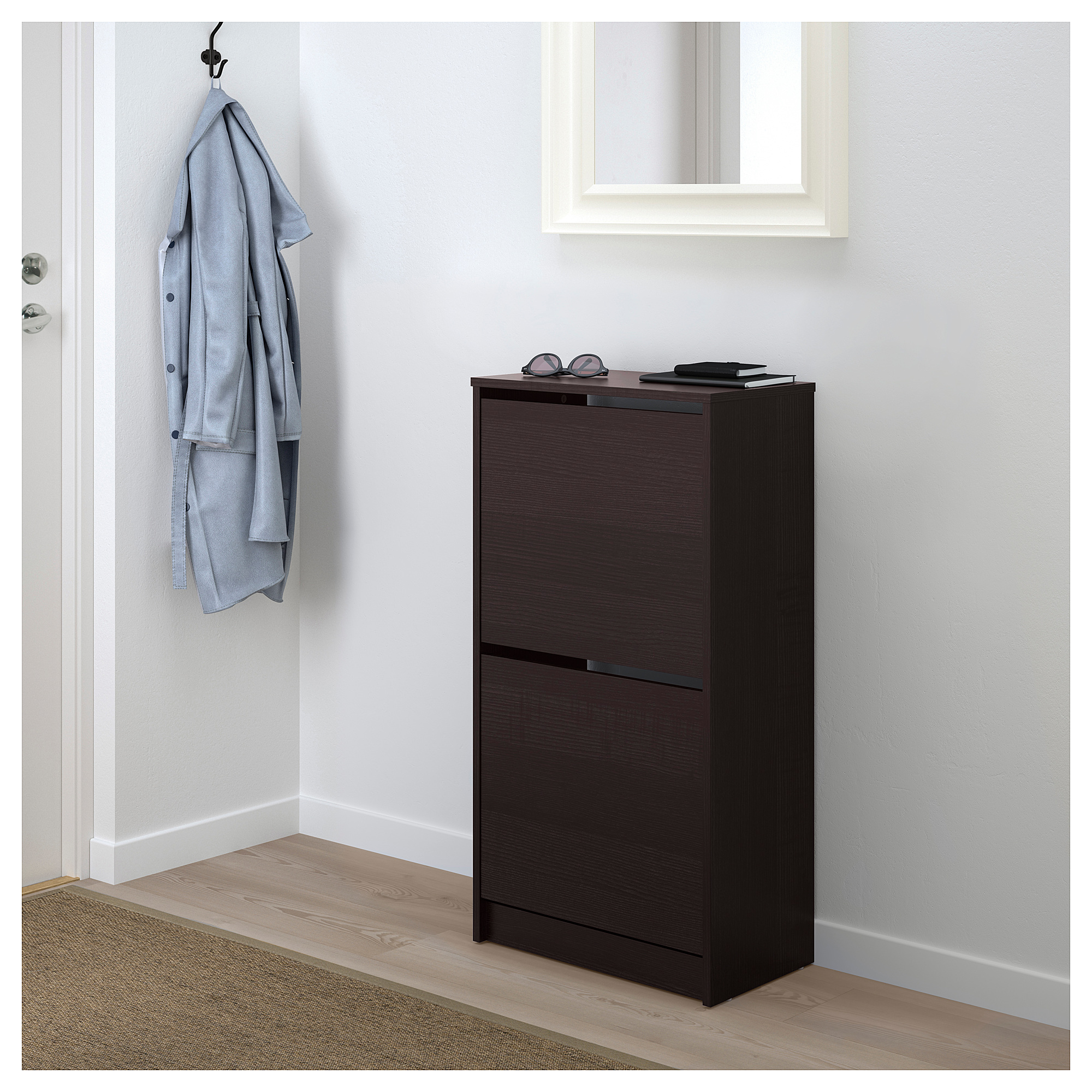 Bissa Shoe Cabinet With 2 Compartments Black Brown Ikea Indonesia