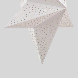 STRÅLA - Lamp shade, dotted/white