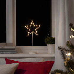 STRÅLA - LED table decoration, battery-operated/star