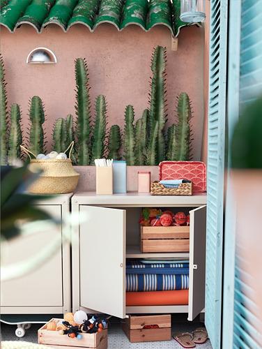 KOLBJÖRN - kabinet dalam/luar ruang, krem, 80x81 cm   IKEA Indonesia - PH176436_S4