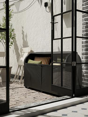 TOSTERÖ - kotak penyimpanan, luar ruang, hitam, 129x44x79 cm | IKEA Indonesia - PH176163_S4