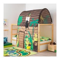 KURA - Tempat tidur yang dapat dibalik, putih/kayu pinus