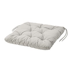 KUDDARNA - Chair cushion, outdoor, grey