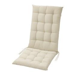 HÅLLÖ - Bantal dudukan/punggung, luar ruang, krem