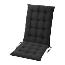 HÅLLÖ - Bantal dudukan/punggung, luar ruang, hitam