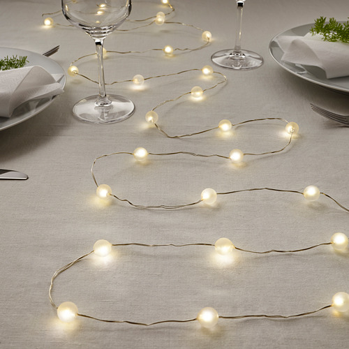 SNÖYRA LED lighting chain with 40 lights