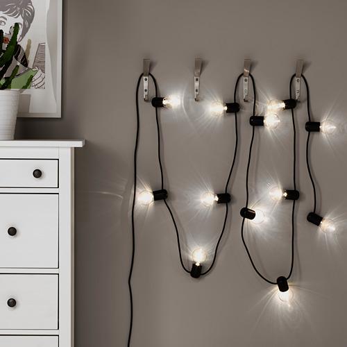 SVARTRÅ - rantai lampu LED dengan 12 lampu, hitam/luar ruang | IKEA Indonesia - PE584615_S4