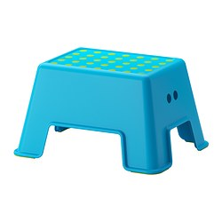 BOLMEN - Step stool, blue