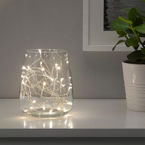 LEDFYR - Rantai lampu LED dengan 24 lampu, dalam ruang warna perak | IKEA Indonesia - PE677042_S4