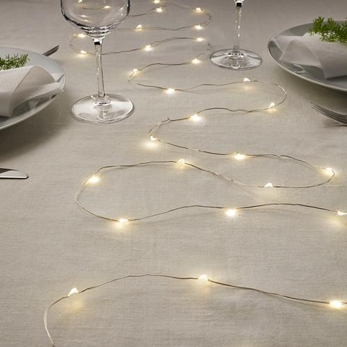 VISSVASS lampu rantai LED dengan 40 lampu