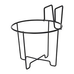 SVARTPEPPAR - Plant pot holder, in/outdoor black, 16 cm