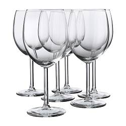 SVALKA - Red wine glass, clear glass
