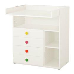 STUVA/FÖLJA - Changing table with 4 drawers, white