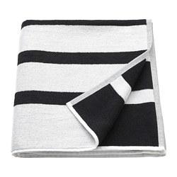 KINNEN - Handuk mandi, putih/hitam