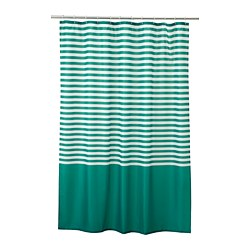 VADSJÖN - Shower curtain, dark green