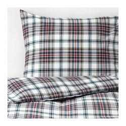 MOSSRUTA - Sarung quilt dan 4 sarung bantal, aneka warna/motif kotak