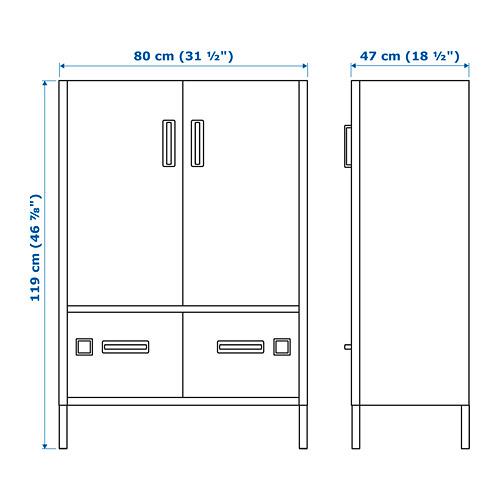 IDÅSEN kabinet dengan pintu dan laci