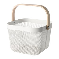 RISATORP - Basket, white