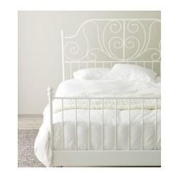 LEIRVIK - Rangka tempat tidur, putih