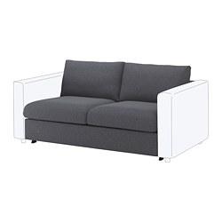 VIMLE - Bagian sofa tempat tidur 2 dudukan, Gunnared abu-abu medium
