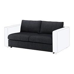 VIMLE - Bagian sofa tempat tidur 2 dudukan, Tallmyra hitam/abu-abu