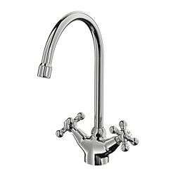 EDSVIK - EDSVIK, dual-control kitchen mixer tap, chrome-plated