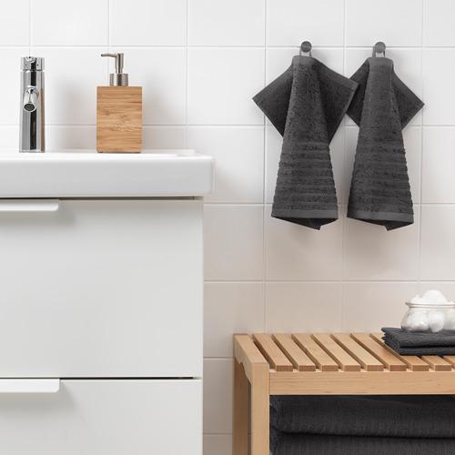 VÅGSJÖN - handuk kecil, abu-abu tua, 30x30 cm | IKEA Indonesia - PE646628_S4