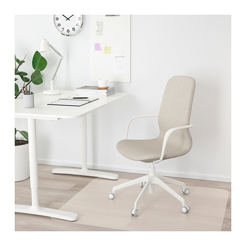 LÅNGFJÄLL office chair with armrests