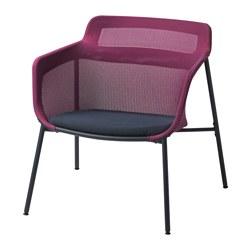IKEA PS 2017 - Kursi berlengan, merah muda/biru