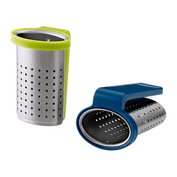 SAKKUNNIG - Tea infuser, light green/blue