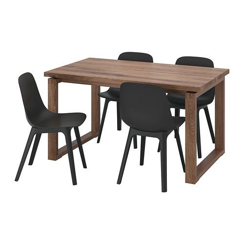ODGER/MÖRBYLÅNGA meja dan 4 kursi