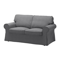 EKTORP - Two-seat sofa, Nordvalla dark grey