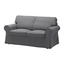 EKTORP - Sofa 2 dudukan, Nordvalla abu-abu tua