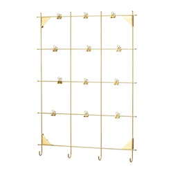 MYRHEDEN - Memo board with clips, brass-colour