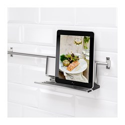 KUNGSFORS - Tablet stand, stainless steel