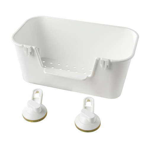 STUGVIK basket with suction cup