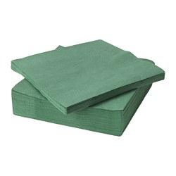 FANTASTISK - Paper napkin, dark green
