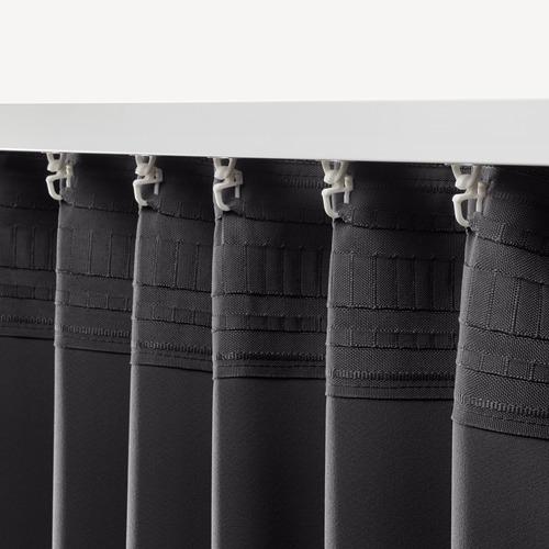 ANNAKAJSA - gorden penggelap ruangan, 1 pasang, abu-abu, 145x250 cm | IKEA Indonesia - PE673765_S4