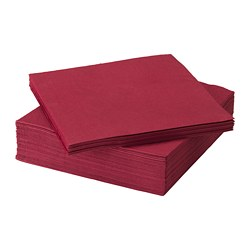 FANTASTISK - Paper napkin, dark red
