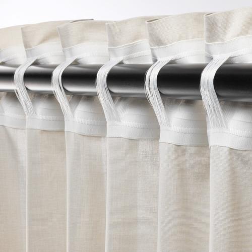HANNALILL - curtains, 1 pair, beige, 145x250 cm   IKEA Indonesia - PE672914_S4