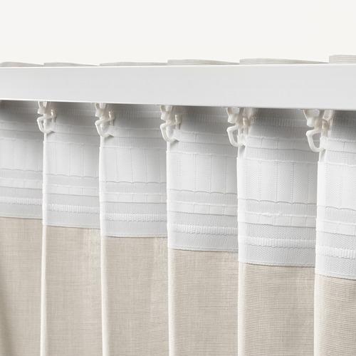 HANNALILL - curtains, 1 pair, beige, 145x250 cm   IKEA Indonesia - PE672915_S4