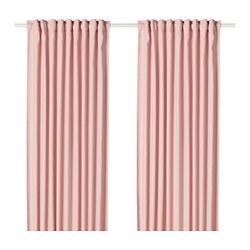 HANNALENA - Gorden penggelap ruangan, 1 pasang, merah muda terang