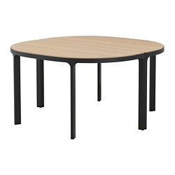 BEKANT - Conference table, white stained oak veneer/black