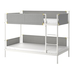 VITVAL - Bunk bed frame, white/light grey