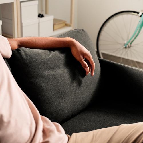 GLOSTAD - sofa 2 dudukan, Knisa abu-abu tua   IKEA Indonesia - PE817515_S4
