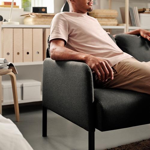 GLOSTAD - sofa 2 dudukan, Knisa abu-abu tua   IKEA Indonesia - PE817517_S4
