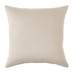 SANELA - Cushion cover, light beige