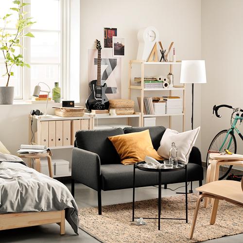 GLOSTAD - sofa 2 dudukan, Knisa abu-abu tua   IKEA Indonesia - PE817521_S4