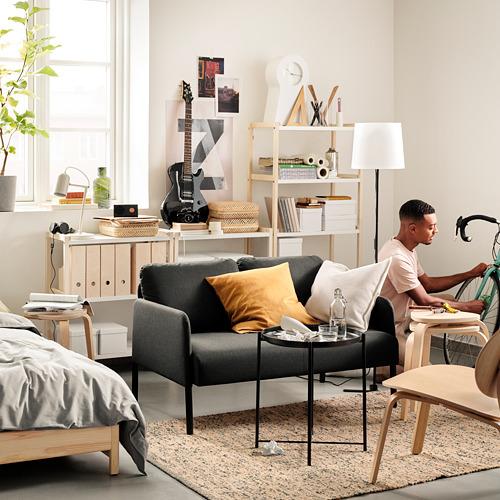 GLOSTAD - sofa 2 dudukan, Knisa abu-abu tua   IKEA Indonesia - PE817522_S4